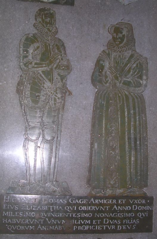 Thomas and Elizabeth Gage West Firle church Lewes to Berwick via West Firle