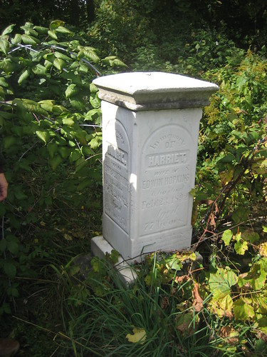 Harriet and son Mark Hopkins buried at the old Anglican Cemetery Aylmer, Ontario, Canada | by Elgin OGS