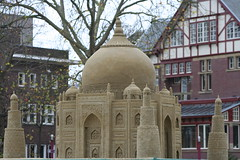Sand sculpture Taj Mahal Museumplein Amsterdam