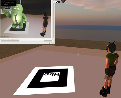 Augmented Second Life using Papervision and the Flash-base