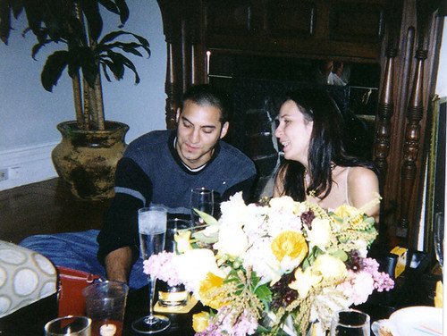 Us at mine and Trev's engagement party in '03. Jay and Russ played chess, which made my parents laugh.