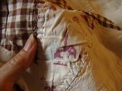 Close up shot of novelty fabric
