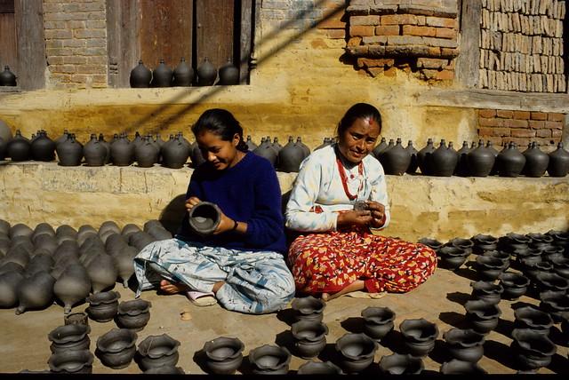 Kathmandu potters,  Nepal