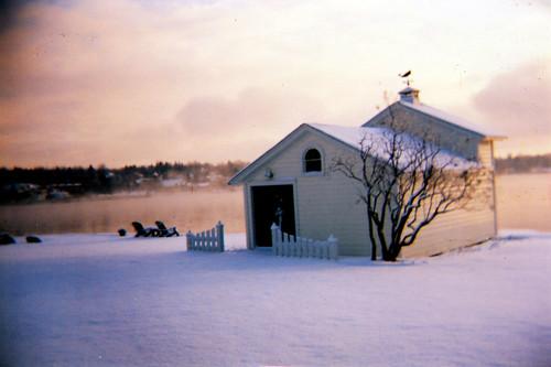 house lake snow ny sunrise holga upstateny playhouse fingerlake skaneateles