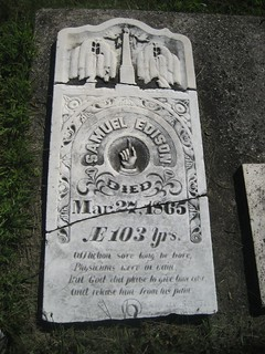 Samuel Edison, grandfather of Thomas Edison died 1865 - buried at the Pioneer Cemetery at Vienna, Bayham, Elgin, Ontario, Canada | by Elgin OGS