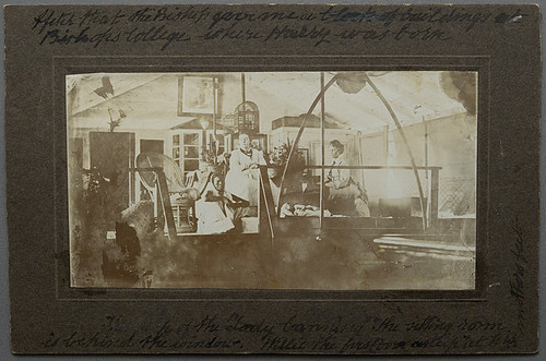 """On board """"Lady Canning"""", floating church, Calcutta, India, c. 1875.  Elizabeth Ann Rust and baby William.   by whatsthatpicture"""