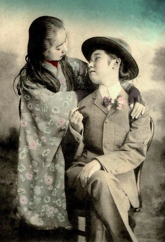 "A FEMME AND HER ""MR. DANDY"" IN OLD JAPAN -- Two Gals Totally Missed by the Missionaries 