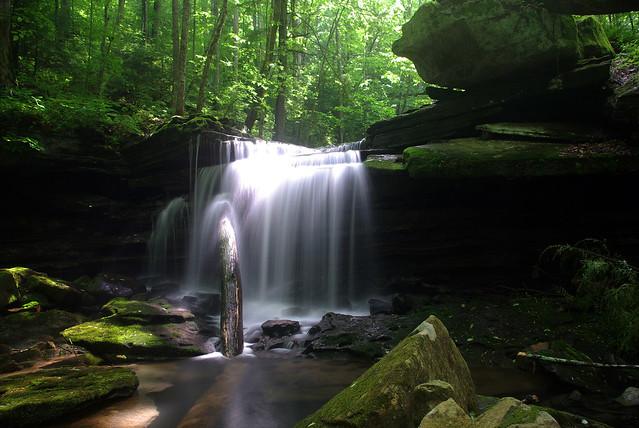 Lower Polly Branch Falls, Polly Branch Trail, Centennial Wilderness WMA, White Co, TN