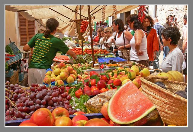 Mercadillo en Sineu.2.Mallorca