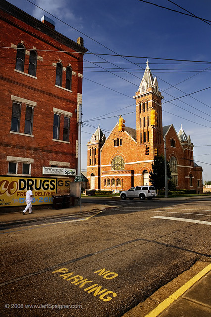 Downtown Troy Alabama | Late afternoon light in downtown Tro