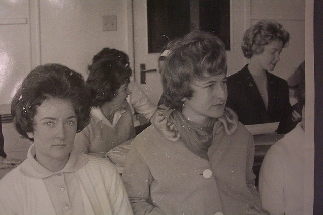 Unidentified students in a tutorial, Newcastle Teachers' College, Australia - 1964