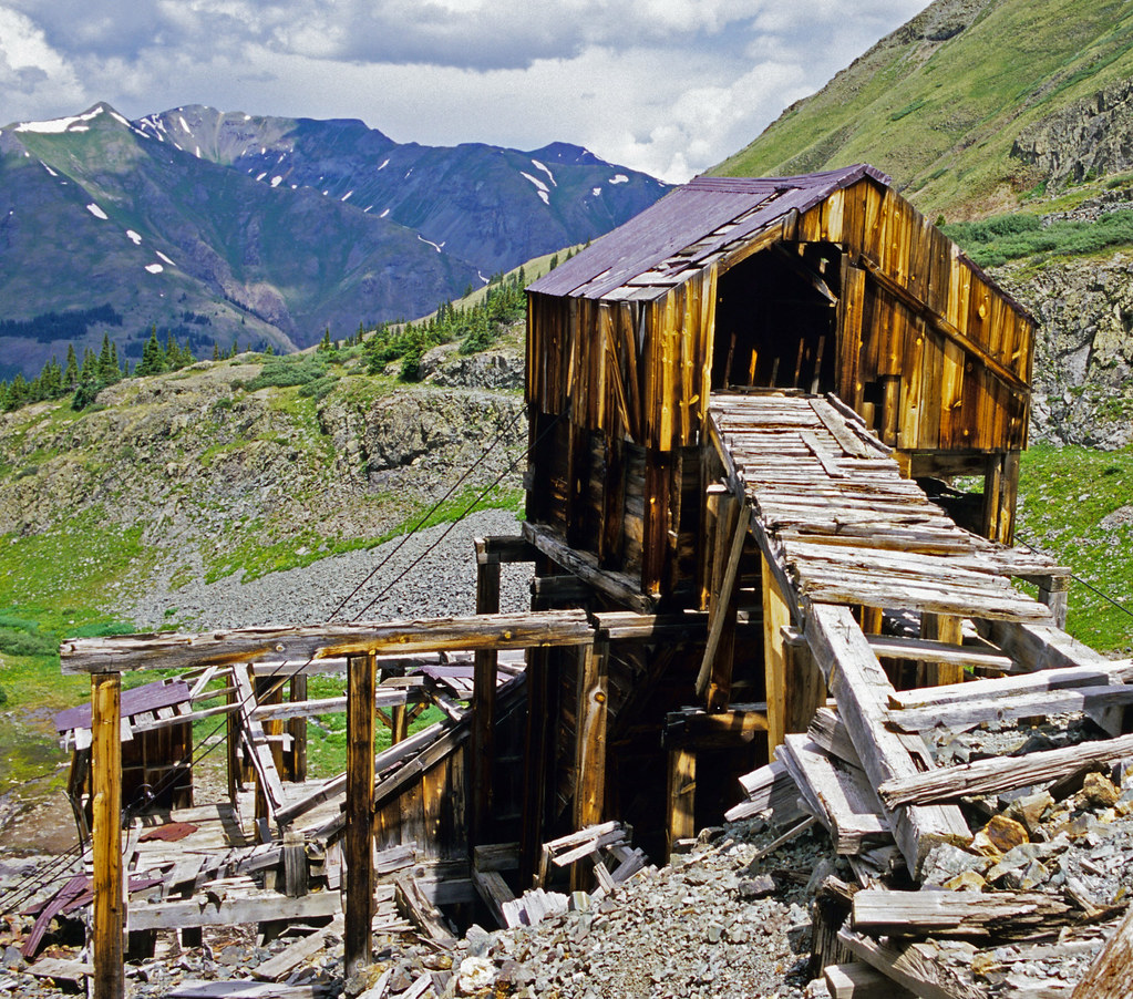 Mine Structure Near Silverton, Colorado