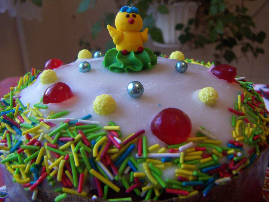 Ukrainian Paska Easter Bread Decorated Top Of Ukrainian Flickr