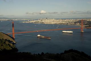 Two Ships Leaving San Francisco