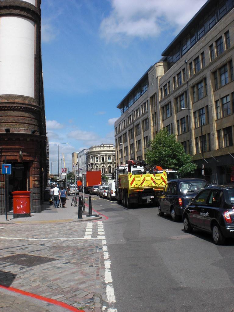 Spitalfields London: The Cloisters, Spitalfields, London, UK Summer