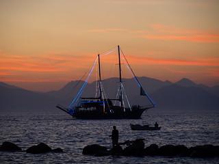 Βoat at sea