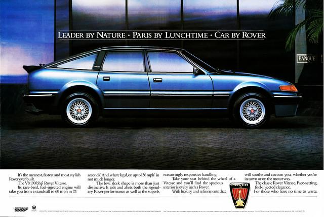 1985 Rover Vitesse  Advert