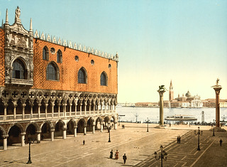 Doges' Palace & piazzetta, Venice, Italy, ca. 1895