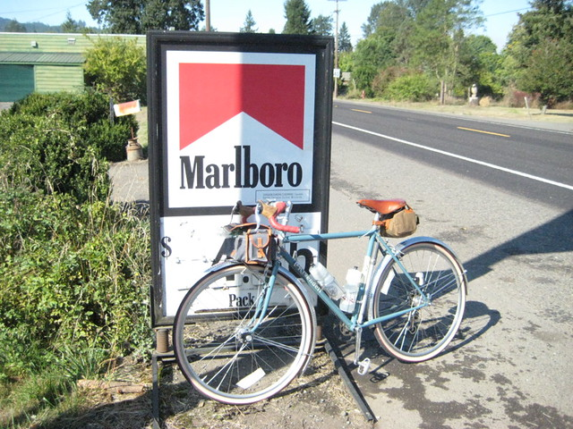 Bikes and signs