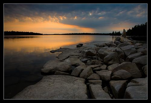 sunset ontario canada nature water rocks ottawa morrisisland