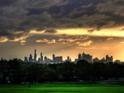 city sunset sky sun skyline clouds cityscape dusk australia melbourne victoria hdr hawthorn fz50