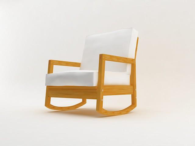 Astounding Lillberg Rocking Chair Illustrated By Zuleozu Using Autode Theyellowbook Wood Chair Design Ideas Theyellowbookinfo