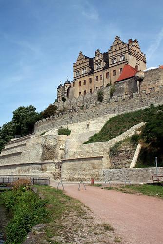 building castle fortifications bernburg