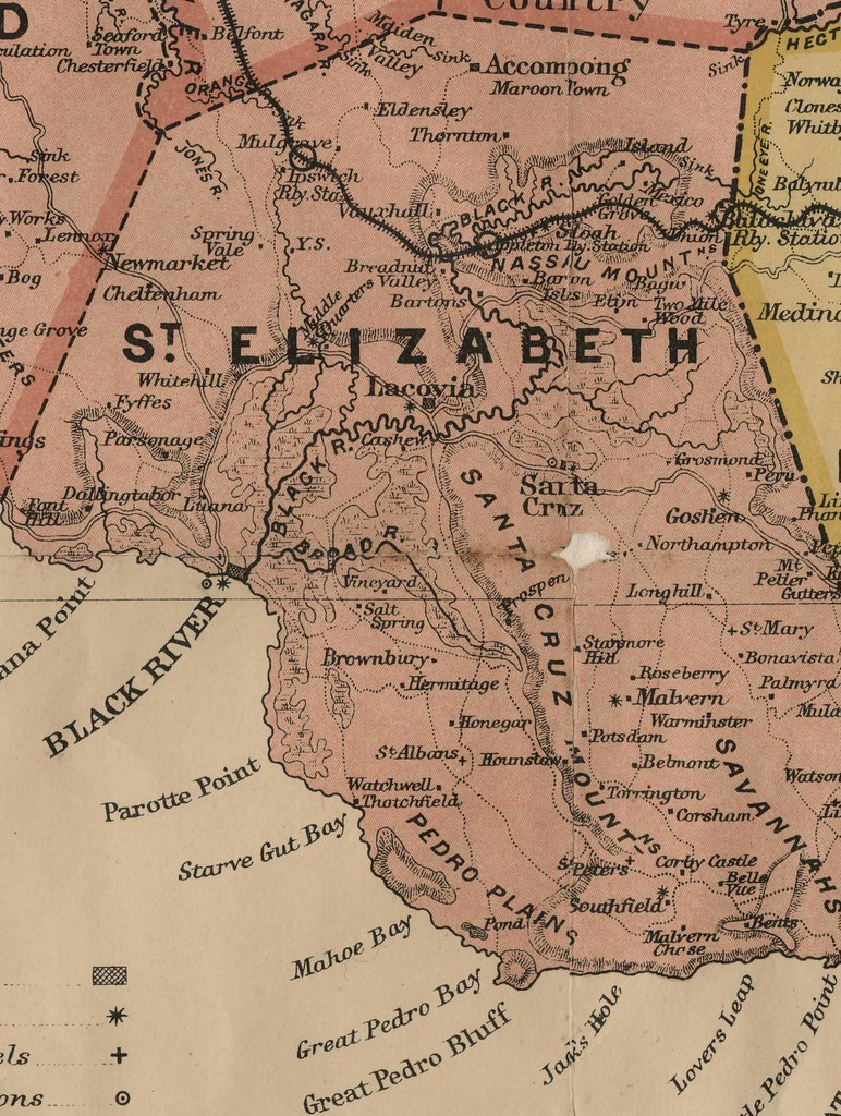 map of st elizabeth parish jamaica St Elizabeth Map Of Jamaica 1895 Taken From The Island Flickr map of st elizabeth parish jamaica
