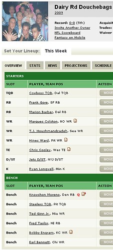 2009 Fantasy Football Team | by gilcreque