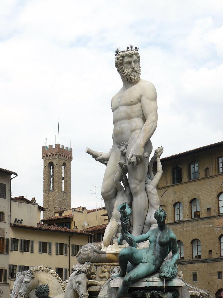 Fuente De Neptuno Plaza De La Senoria Florencia Italia Flickr