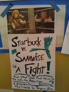 BarCampSeattle: Starbuck vs. Samwise in a fight (and what does that have to do with the attention economy?) | by bryanzug