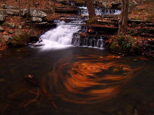 fallcolors waterfalls arkansas greersferrylake collinscreek