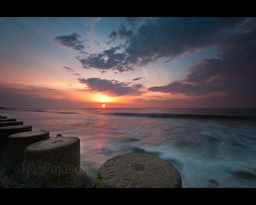 ocean morning seascape beach water ferry clouds sunrise landscape concrete nc waves tripod salt northcarolina atlantic explore filter lee pilings southport gitzo fortfisher interestingness411 khepri singhray arcatech gt2531 nikonafsnikkor1635mmf4gedvr