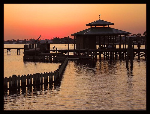 sunset water pier dock alabama gazebo explore orangebeach gulfcoast latimes 5photosaday nikond60 cottonbayou llovemypic afsdxnikkor1855mmf3556gvr thechallengefactory