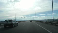 Driving into the horizon