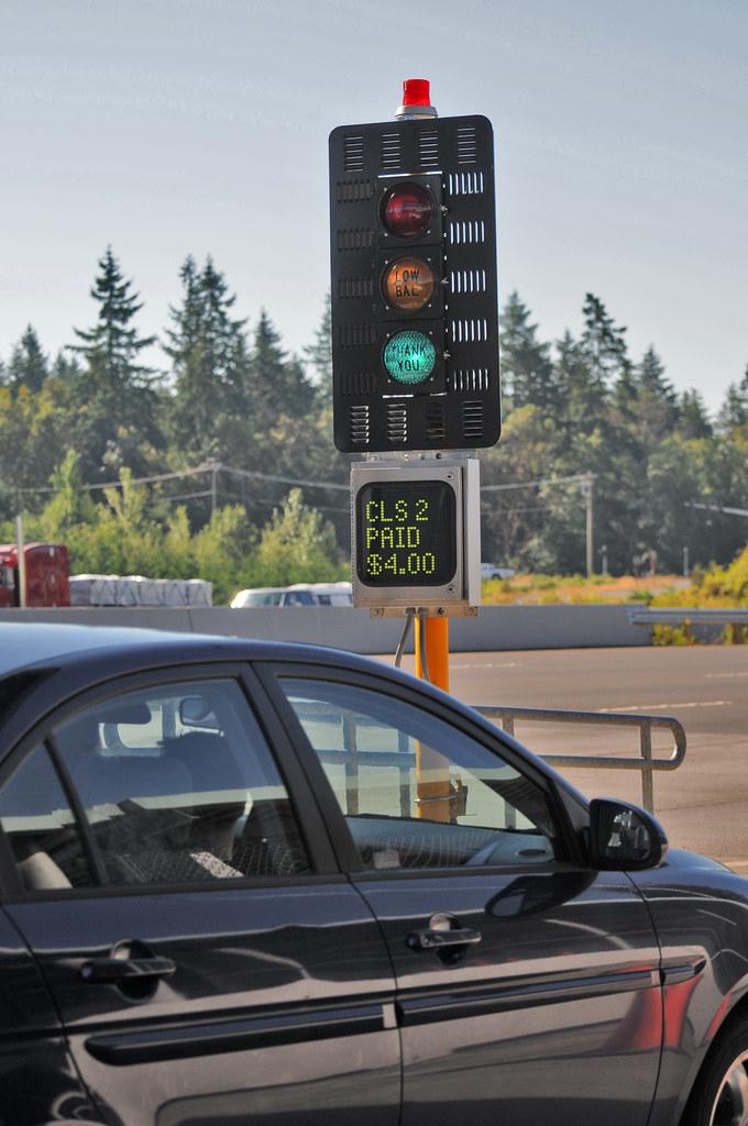 SR 16 Tacoma Narrows Bridge Toll Plaza | When you see the gr