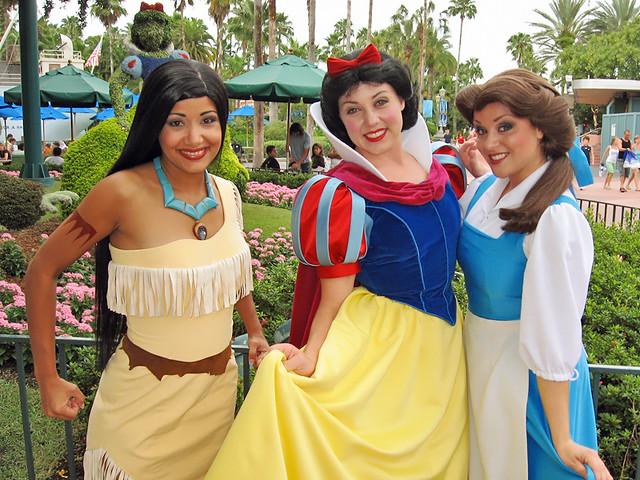 Pocahontas, Snow White and Belle