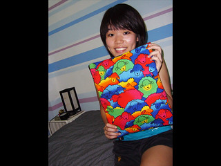 Madeline and her Crazy Sheep laptop sleeve