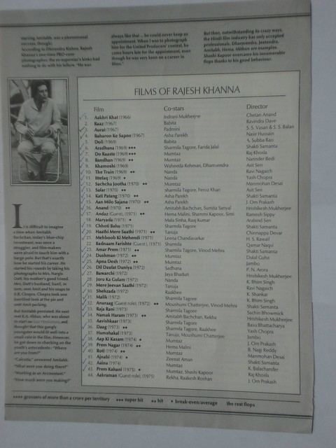 Careergraphs - Rajesh Khanna & Amitabh Bachchan - 3