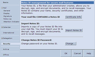 Lotus iNotes security preferences | by Simon Scullion