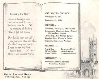 Rachel Dietrich - Funeral Card | by Marion Doss