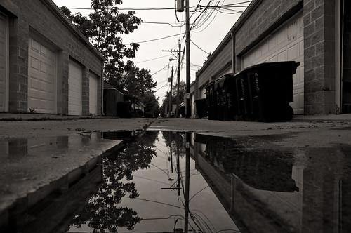 chicago reflections blackwhite alley nikon banias d90 benchorizo