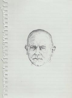 Zavier Ellis 'Mad Nazi Priest Drawing # 1', 2014 Pencil on paper 21x14.8cm