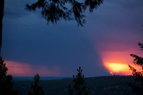 sunset volcano amador