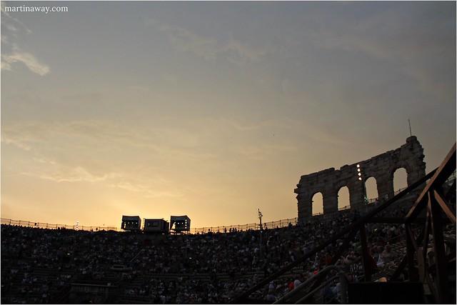 Aida at the Arena di Verona.