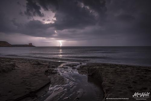storm beach capebreton lightning nikond810