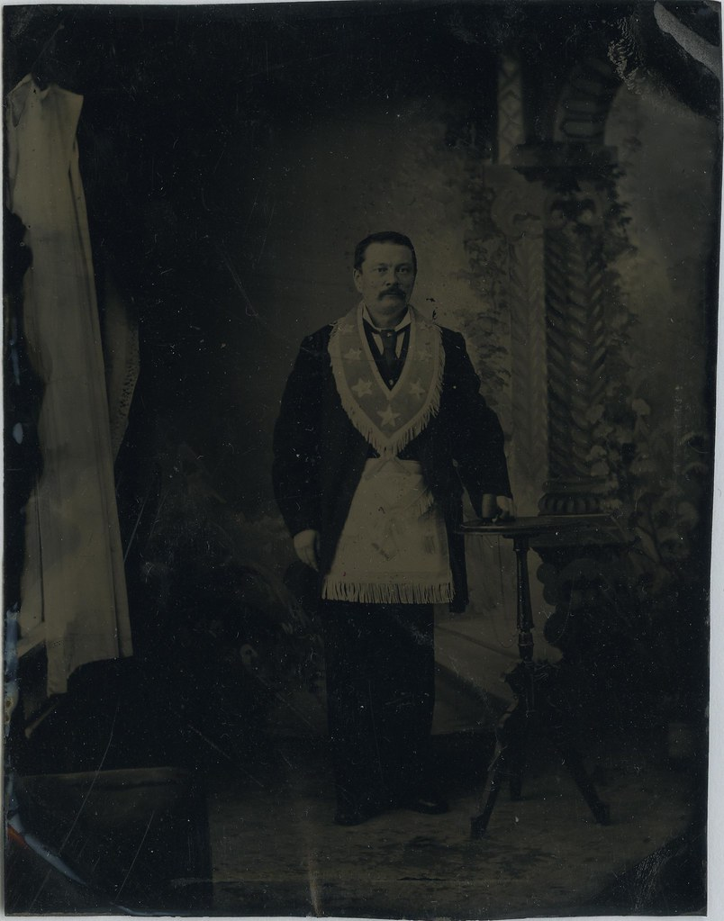 Unidentified Man wearing Masonic Apron, Worshipful Master'… | Flickr