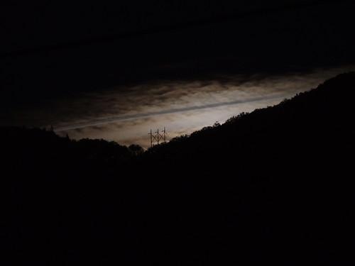moon night clouds oregon nightscape moonrise