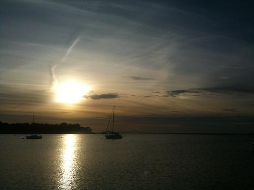 sunset water clouds boats florida iphone gulfcoast