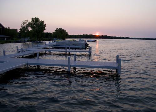 alexandria minnesota marina sunrise mapped lakedarling
